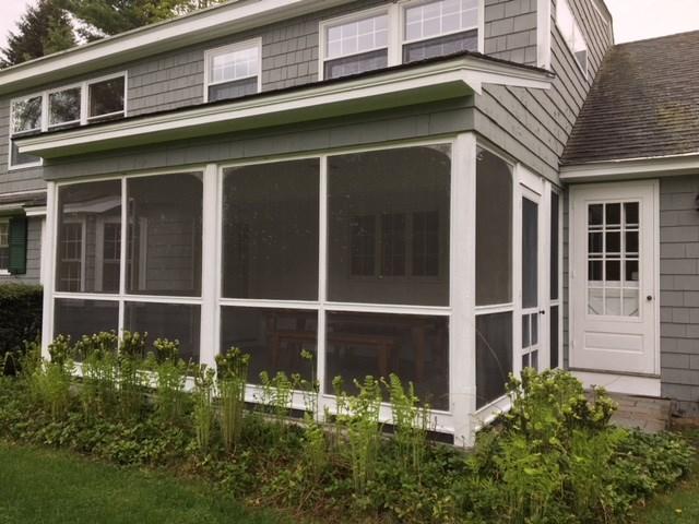 Bright screened porch