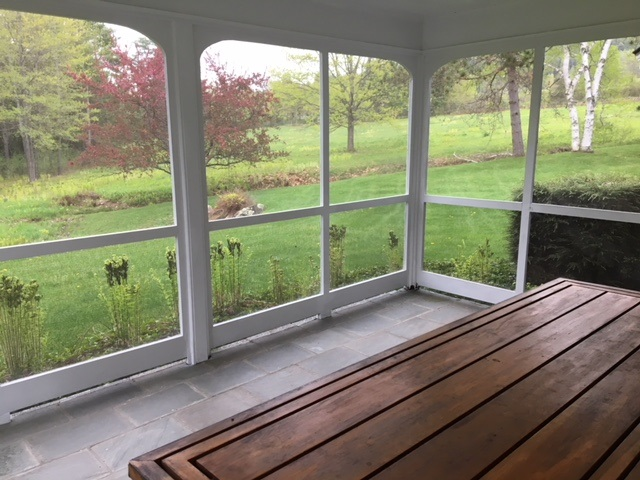 Screened porch of the family room
