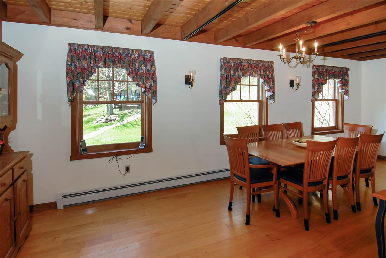 Plenty of windows in the dining area