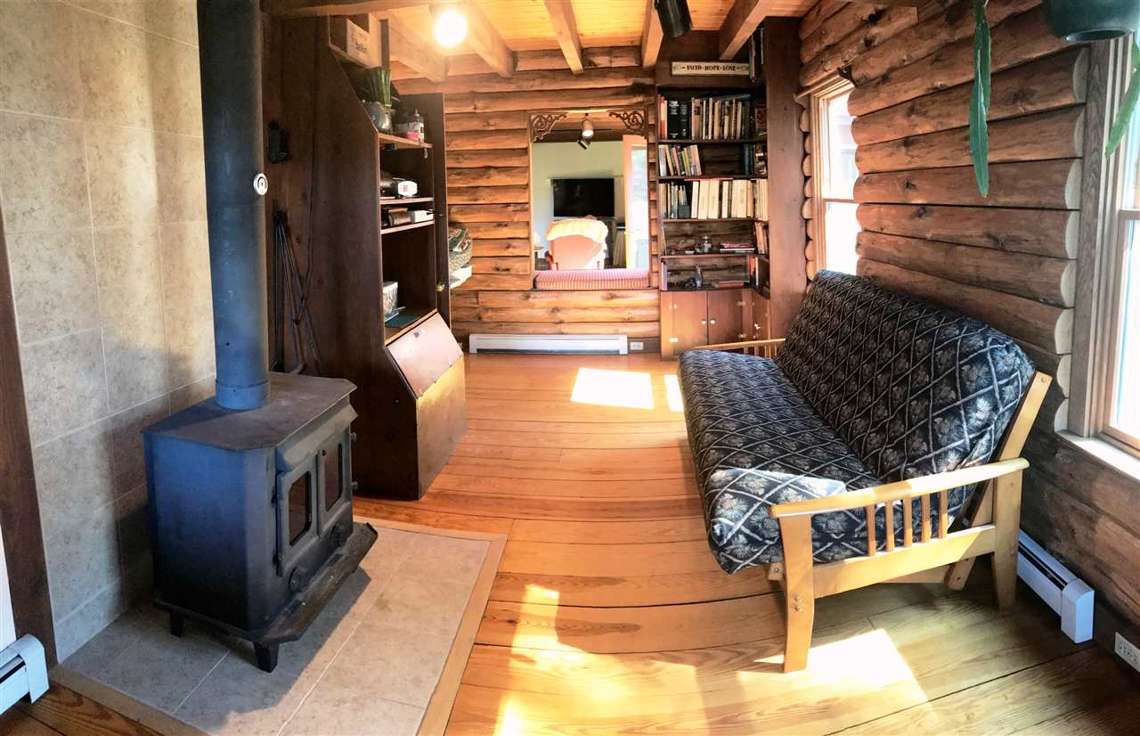Sitting room by the wood stove
