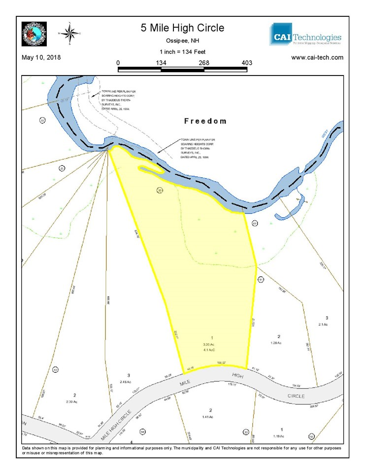 OSSIPEE NH LAND  for sale $56,000