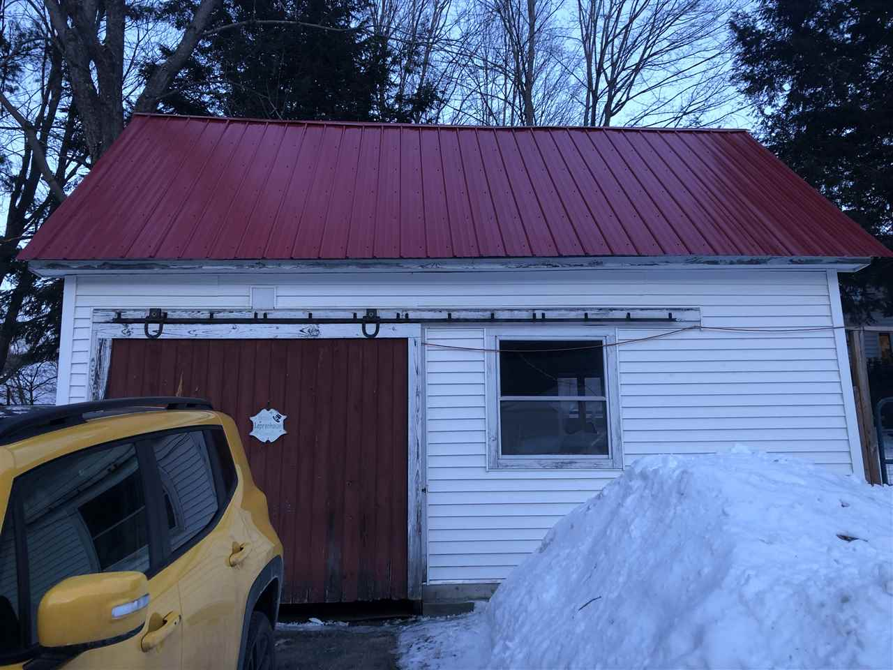 Garage with new roof