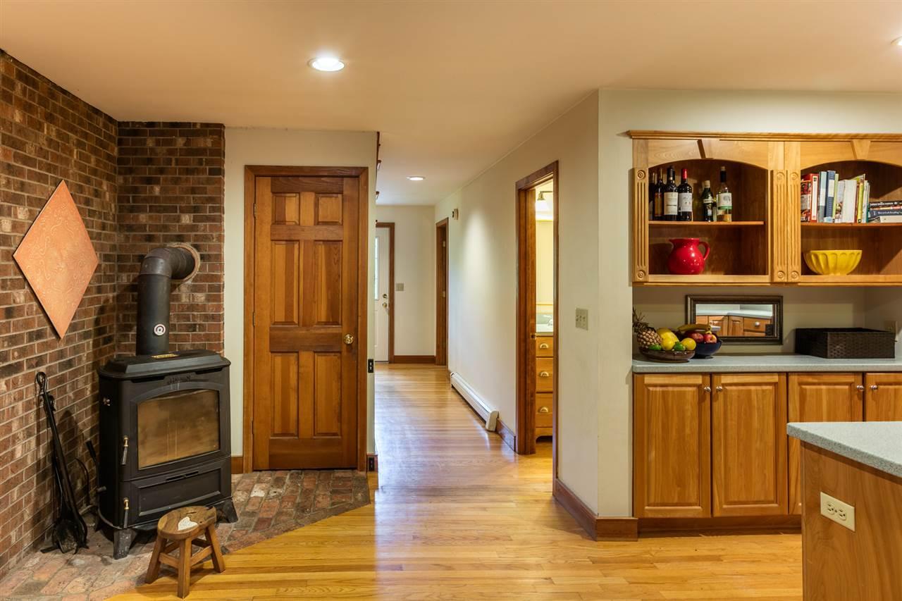 Woodstove in kitchen