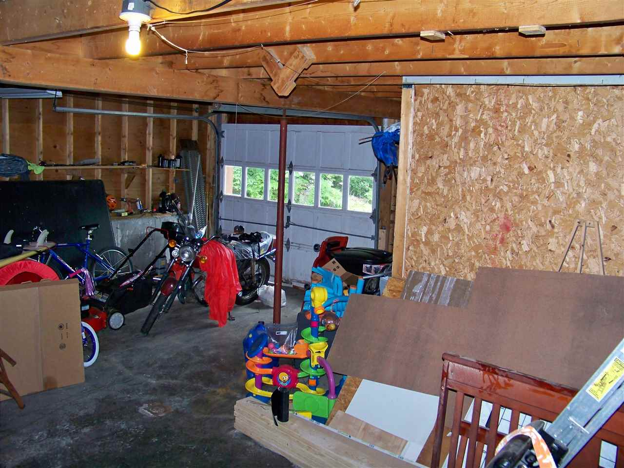 Storage and one car garage attached