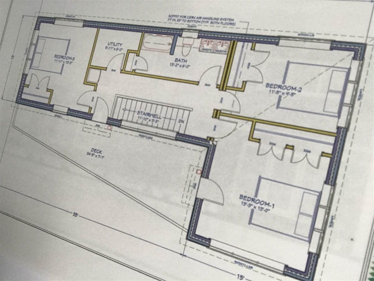 Possible level 2 upstairs floor plan