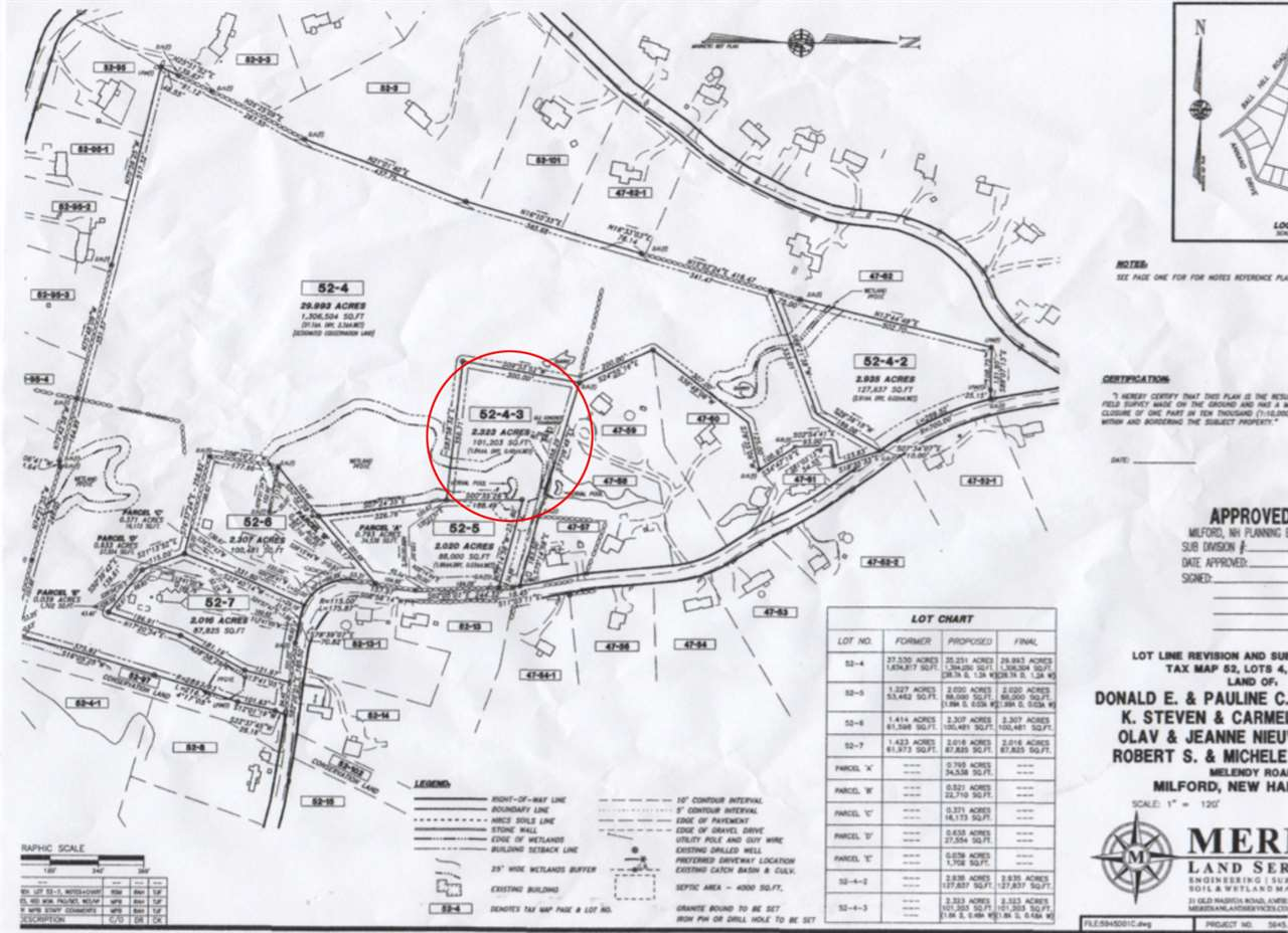 Milford NH Land  for sale $List Price is $69,000