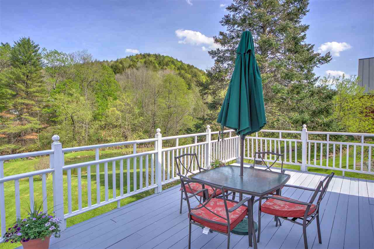 Spacious and sunny deck with view of the pond! 12247366