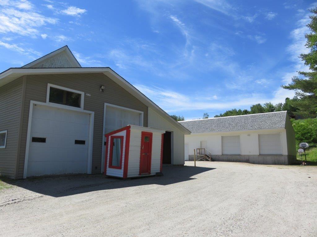 2 car attached garage & storage