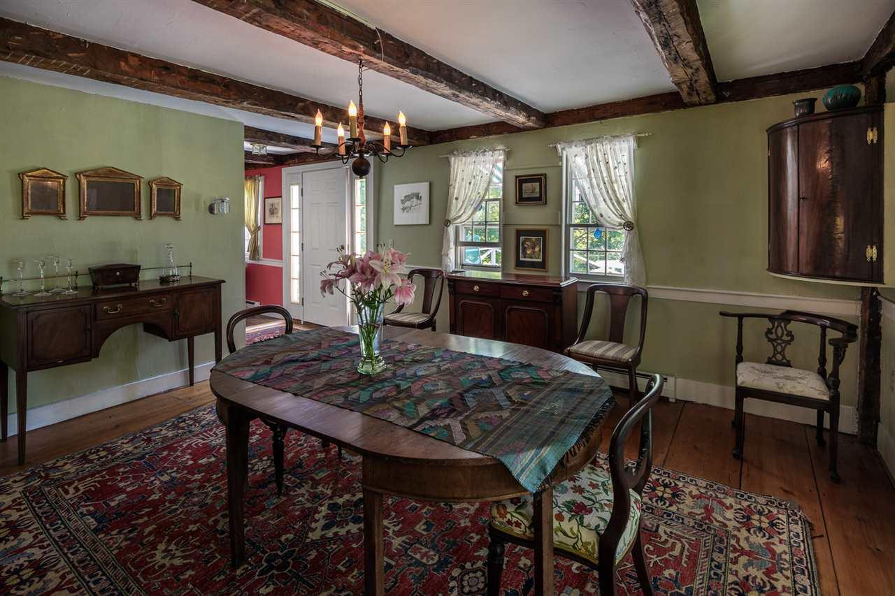 Slate floor Sun room off Dining Room