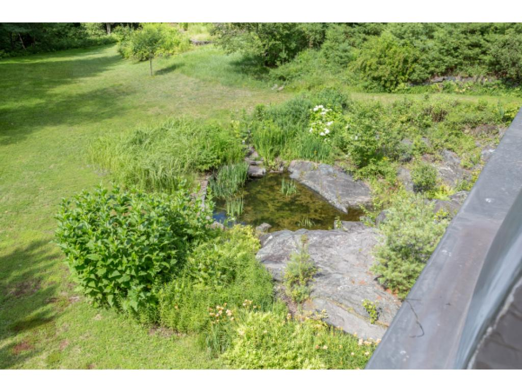 Water feature beside the house