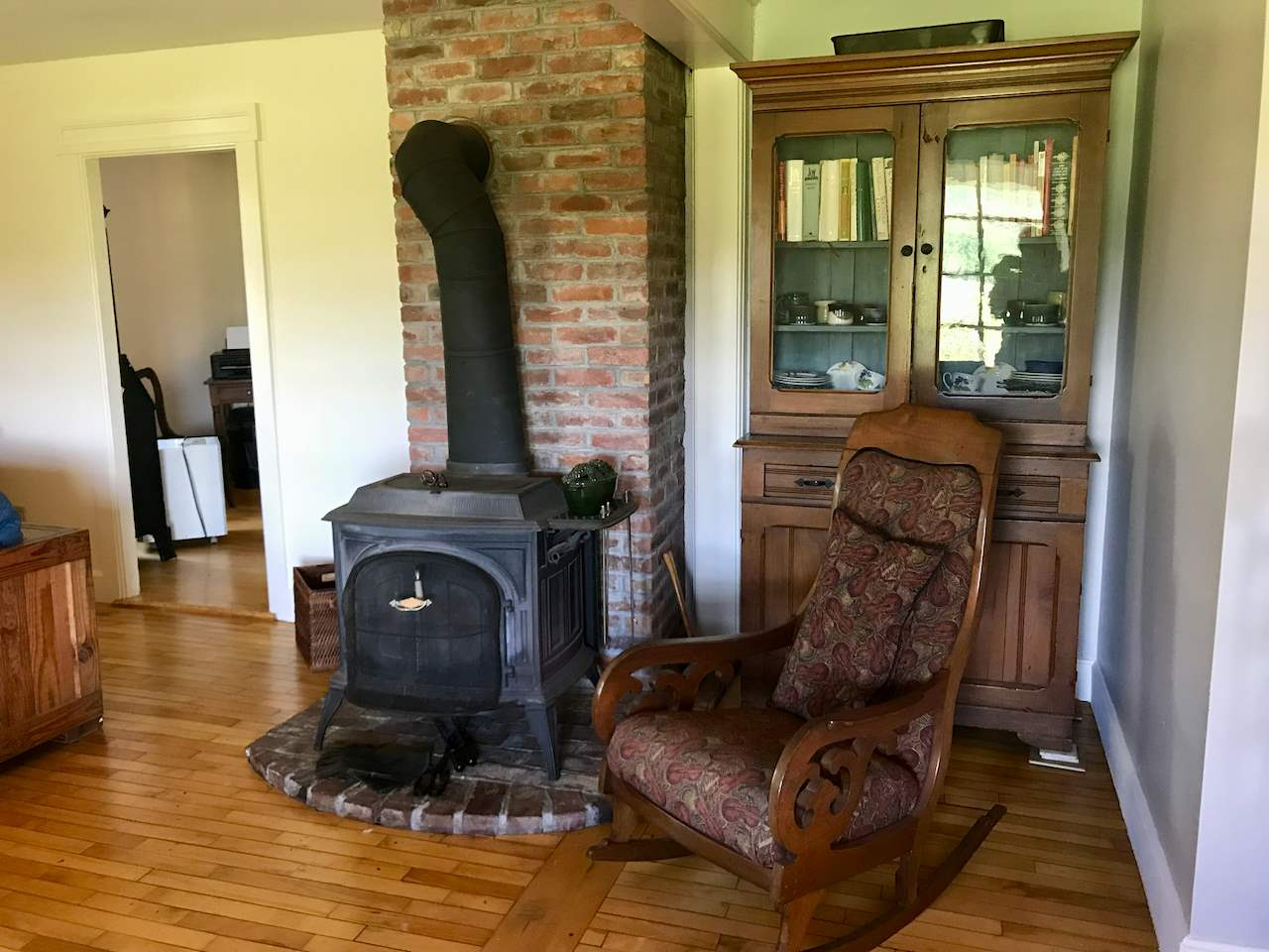 Wood stove for warmth and ambience