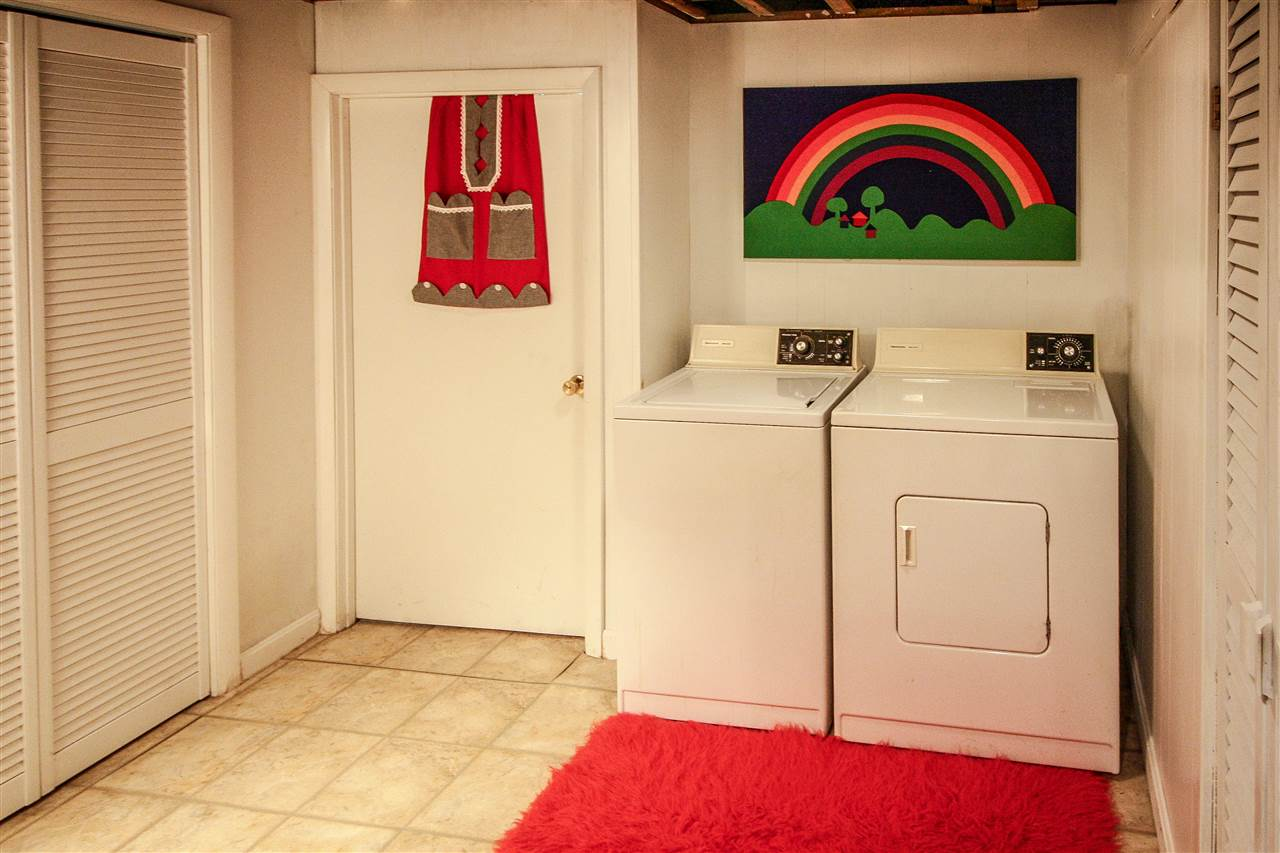 Lower Level laundry with sink
