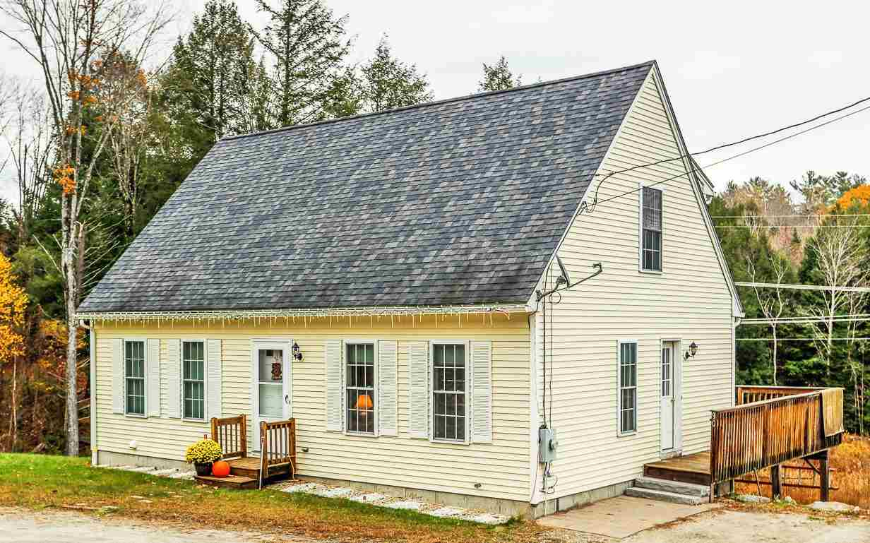 Conveniently located Cape with 3 bedroom, 3 bathroom on 1.5 acres. First floor master bedroom suite and 2 large bedrooms and full bathroom on second floor. Access the great snowmobile trails from your back yard. 10 minutes to I-89, 2 hours to Boston, 35 minutes to Lebanon.