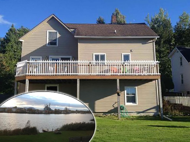 Great home with water frontage on Lake Memphremagog. Nicley renovated 2 bedroom , 2 bath home with a walkout basement. Great open living space and formal dining room. Nice spacious kitchen and a deck for the bbq. Fish and boat from your back yard. Close to all down town amenities.