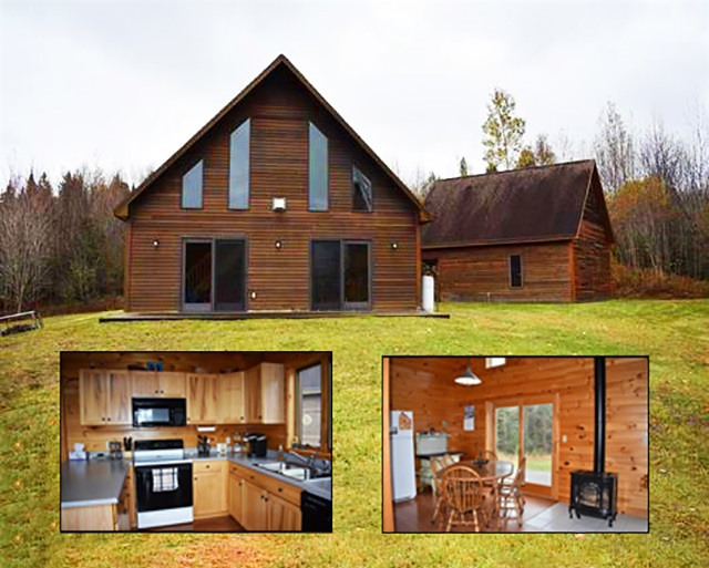 This private home sits on a knoll with total privacy in mind. Built in 2002, also featuring a 24'x26,  2 car garage. Home has large open loft upstairs for bedrooms (lister's card says 2), 1 bath with cathedral ceilings in dining area. Beautiful woodwork throughout. Home cannot be seen from the road and has a long private drive heading up to it. Pond on property calls the wildlife. The home can be purchased with 10.3 acres for $199,000 or 30 acres total for $229,000. Seller will pay up to $7,000 in closing costs.