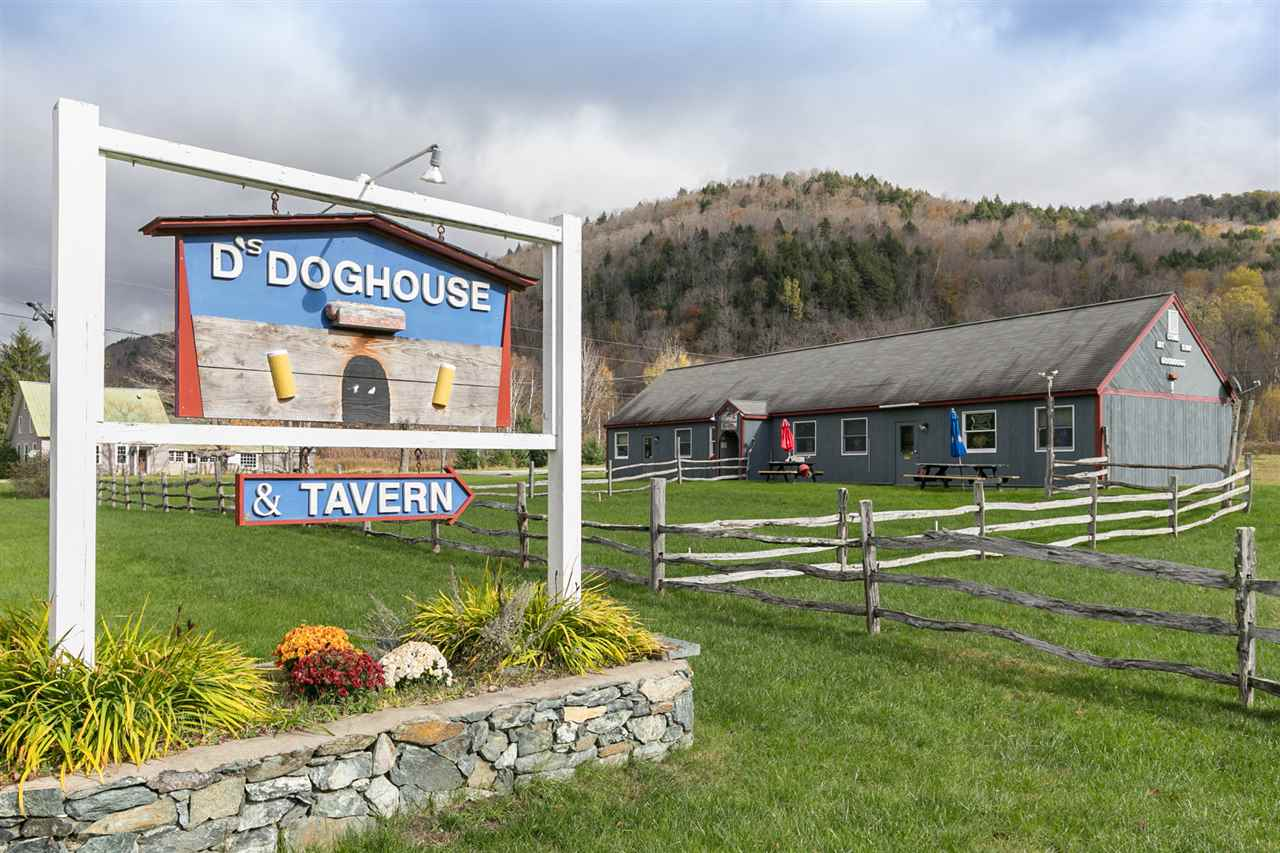 Tavern visibly located on beautiful roadside of scenic Route 100 in Granville, Vermont. Built in between Killington and Sugarbush ski area, this restaurant is the perfect stopping place and attraction for local community members, folks travelling, and nearby ski clubbers. Gorgeous updated hardwood bar with glossy finish, commercial kitchen, and spacious dining area with endless possibilities! Great eneterainment space to host bands, baby showers, paint-n-sips, and much more! Ample outdoor space offers opportunities as varied as your imagination. This tavern is waiting for your next ambition, schedule a showing today!