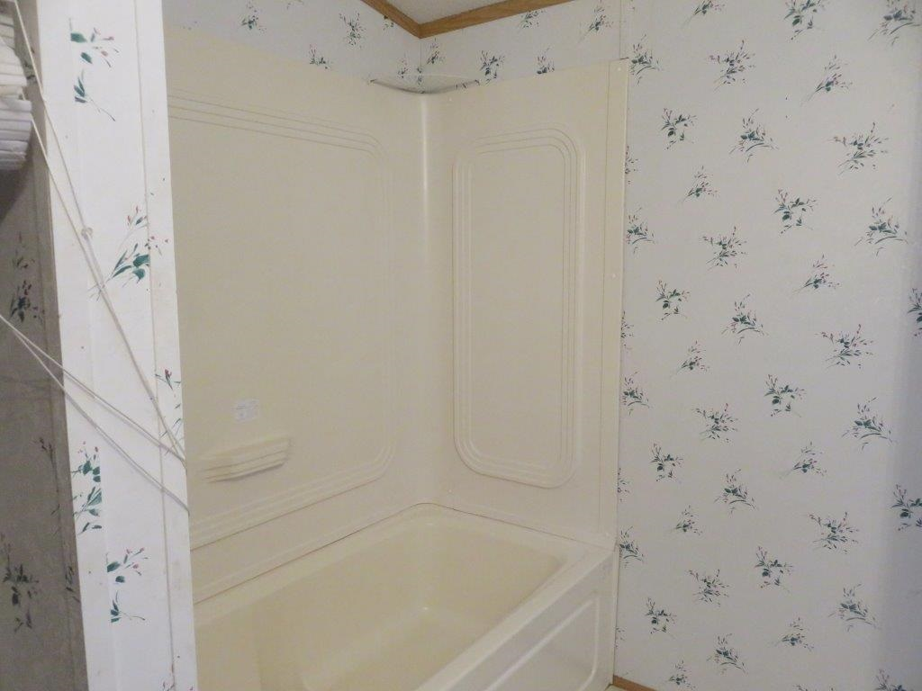 Fiberglass Tub and Shower