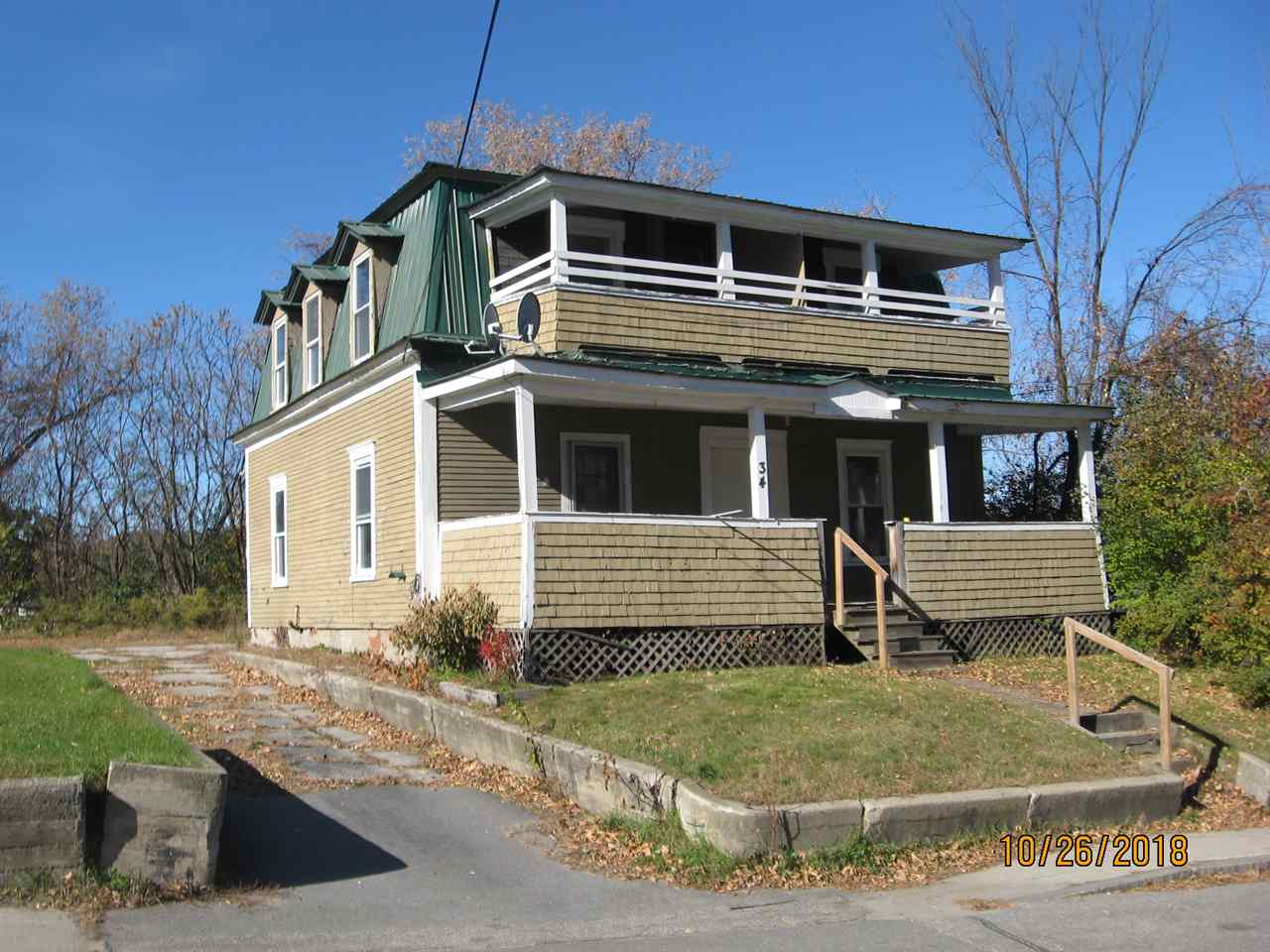 CLAREMONT NH Multi Family for sale $$54,900 | $31 per sq.ft.