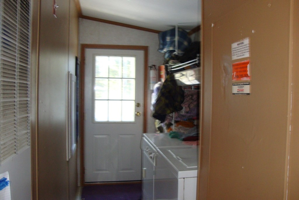 Laundry area to back door