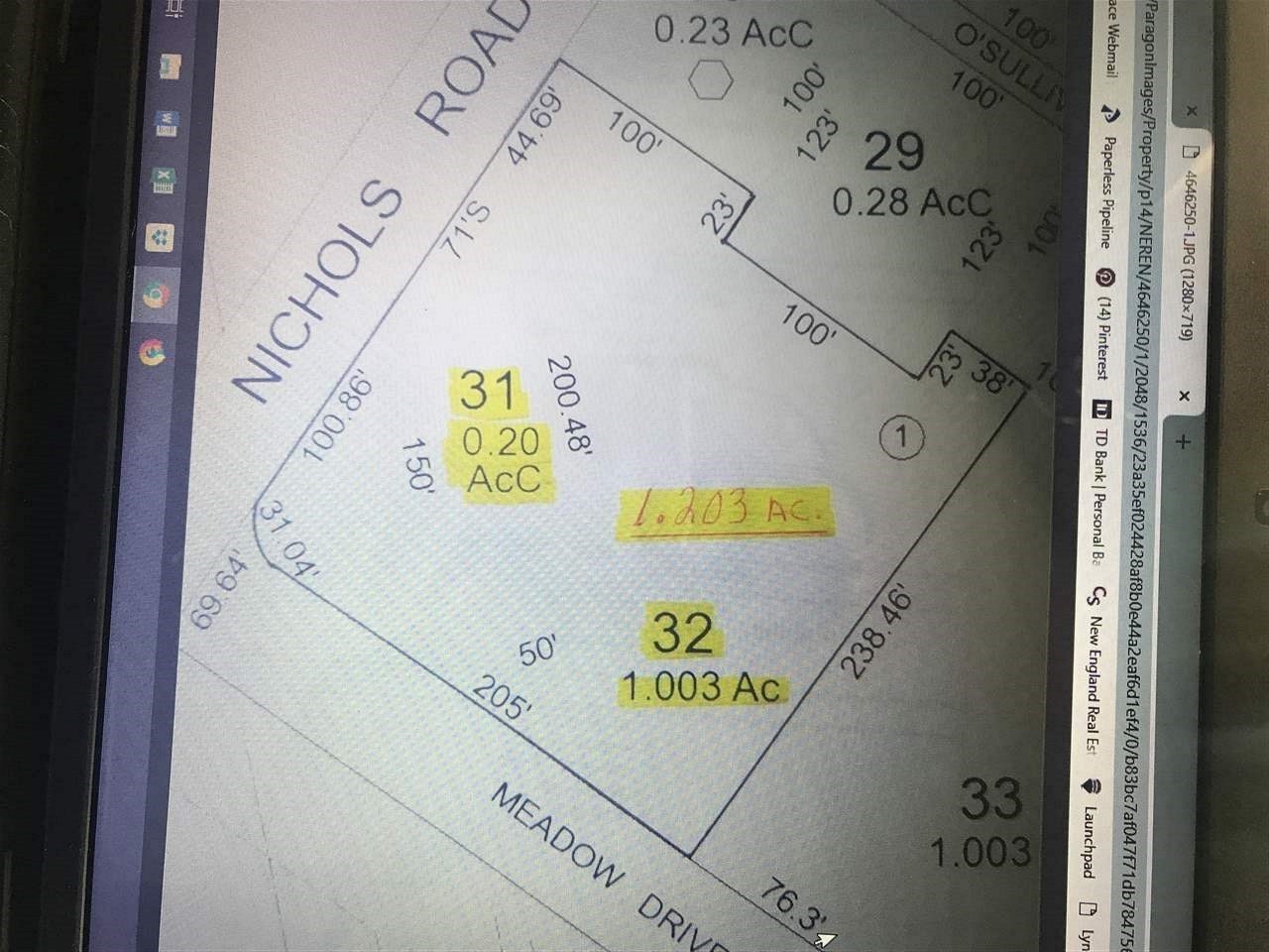 OSSIPEE NH LAND  for sale $45,000