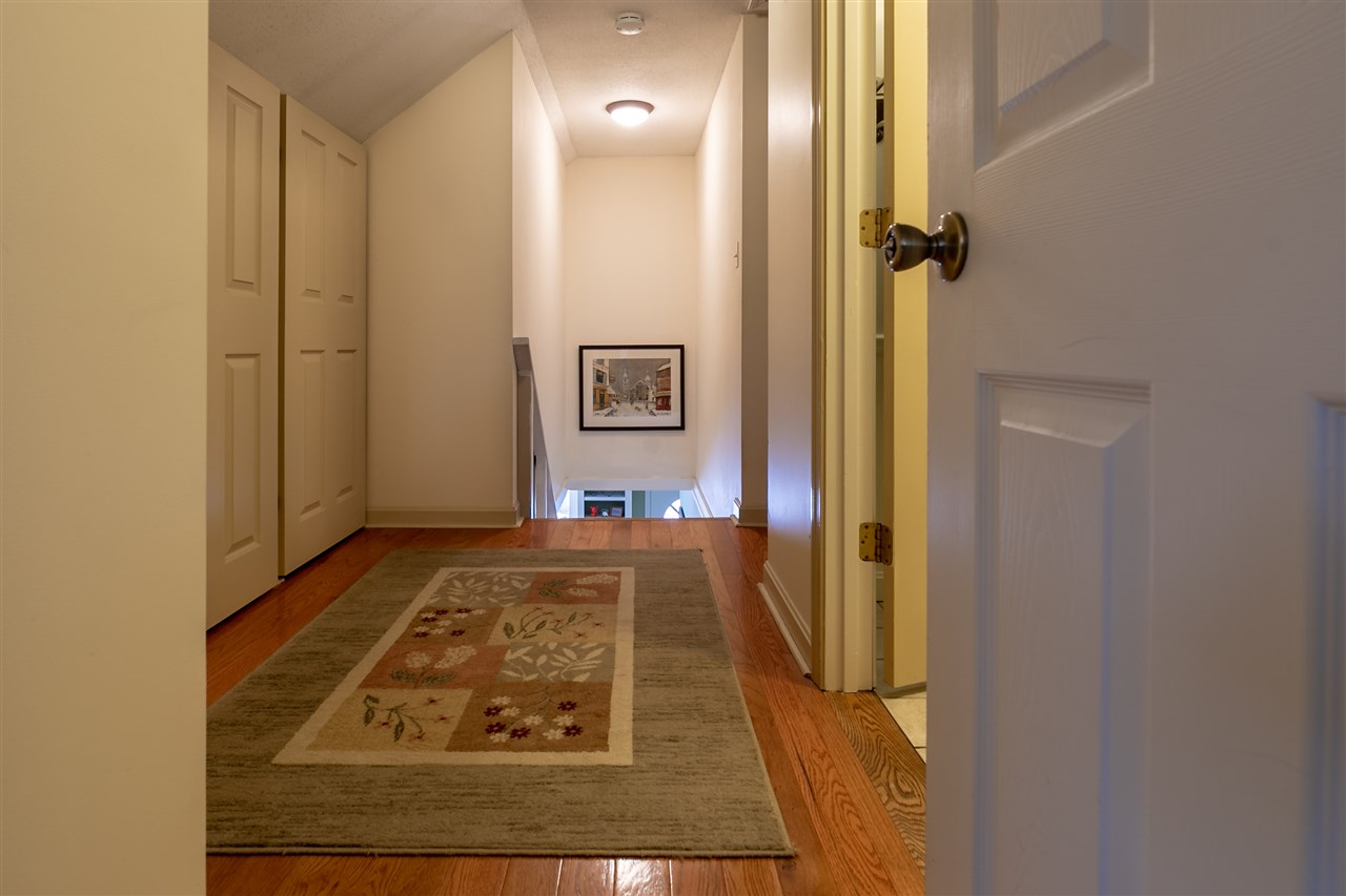 Large hallway with closets