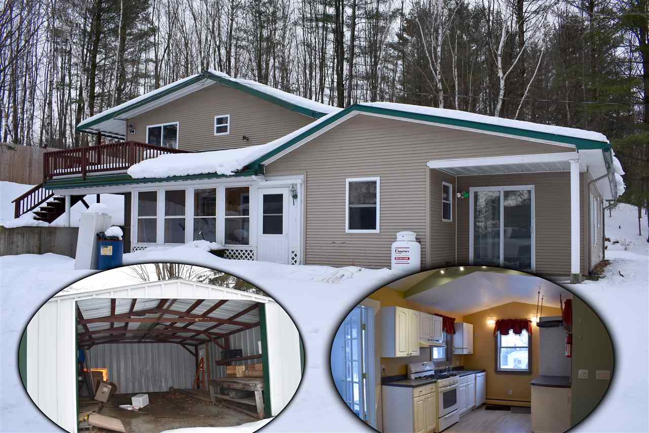 This home is quite private despite being in town. Vinyl siding, metal roof, and on .6 acre with numerous outbuildings for storage. A four-season sun porch to enjoy and a large deck for entertaining in the outdoors for the summer. Close to town, yet feels like a country setting. Home is empty and ready for a new owner!
