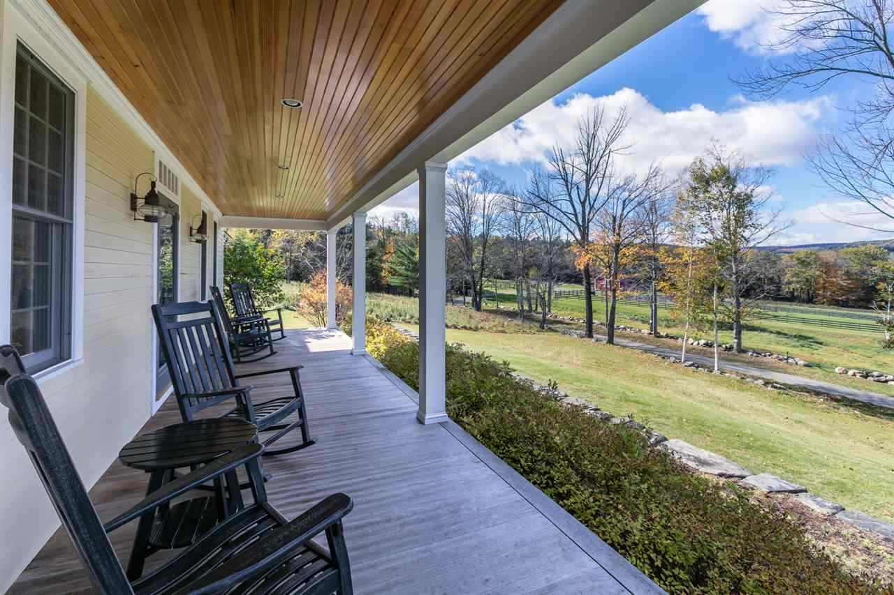 Sizeable screened porch
