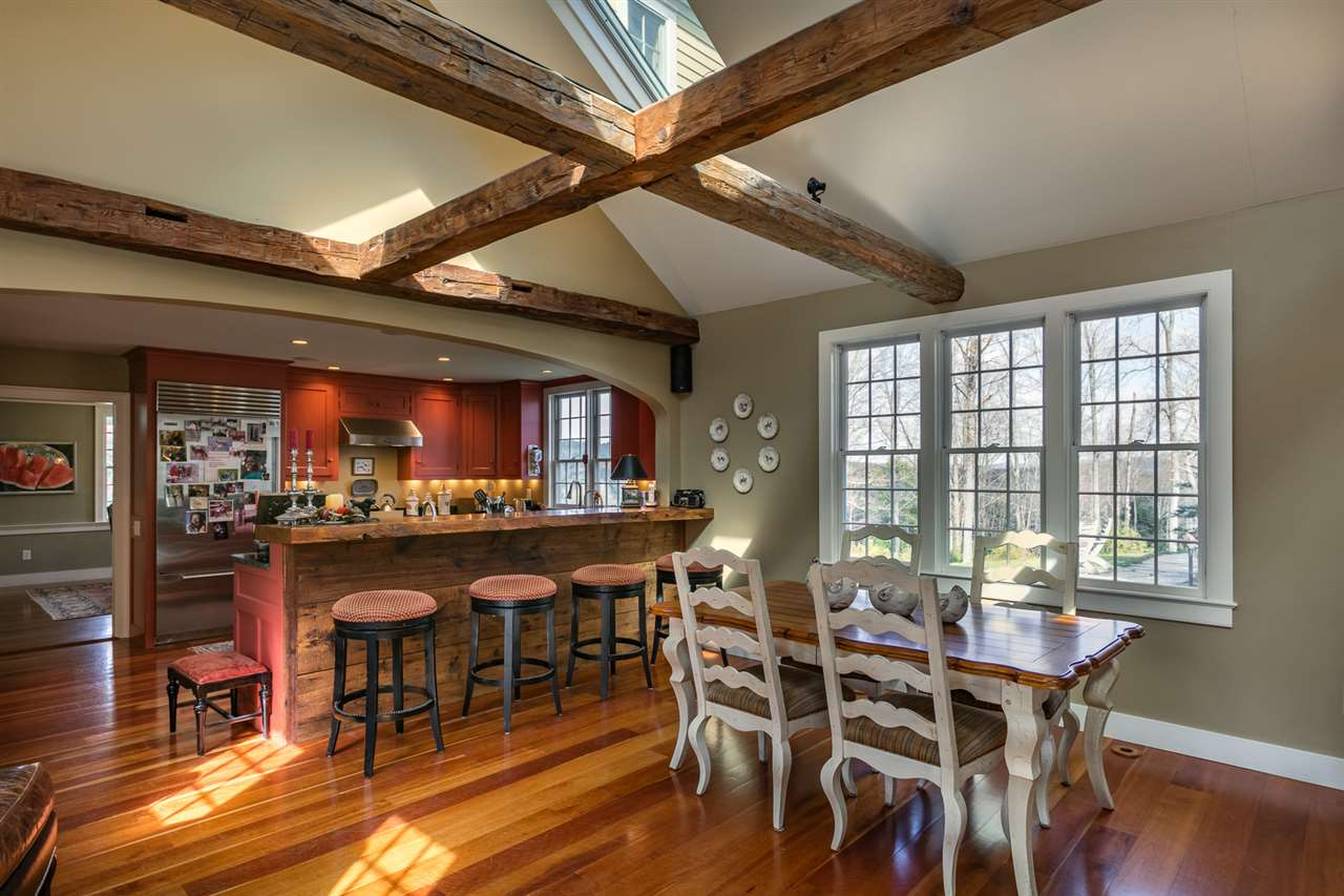 Kitchen with cherry floors