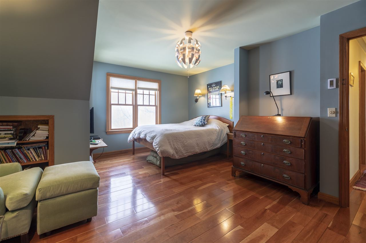 Master suite with views and lots of closet space