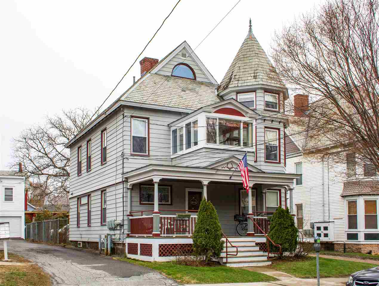 Beautiful Victorian Duplex in a prime location! Alluring original work throughout the property and well-maintained by the current owner. Investors welcome! This home is just steps away from the top of Church street and features off-street parking for residents. Enjoy a cup of coffee on the enclosed front porch, or enjoy your time on the 2nd story enclosed deck. The 2nd floor features a screened-in porch as well. This is an opportunity you don't want to miss!