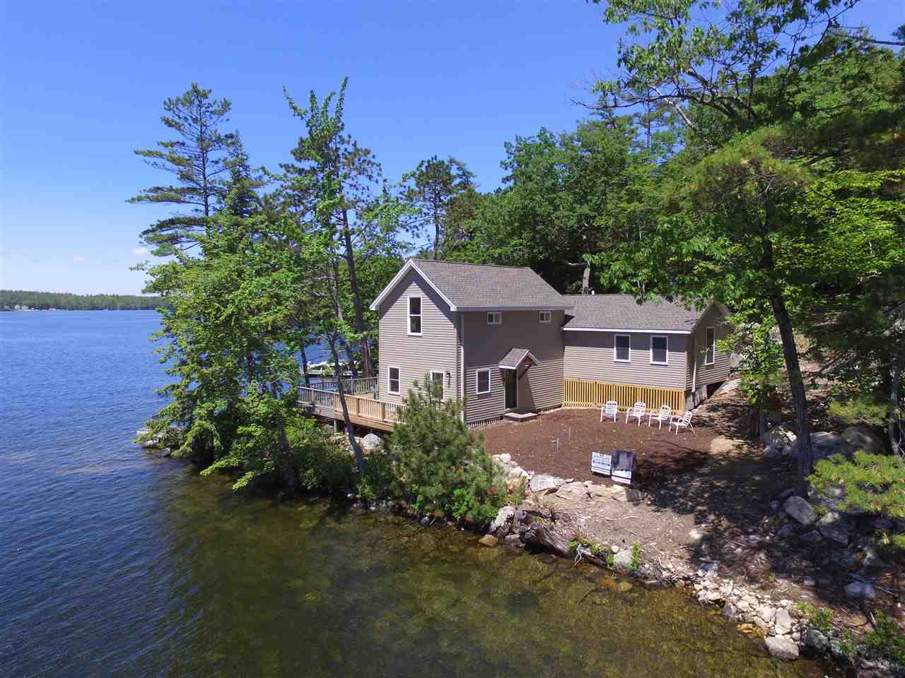 Lake Winnipesaukee waterfront home for sale in Tuftonboro