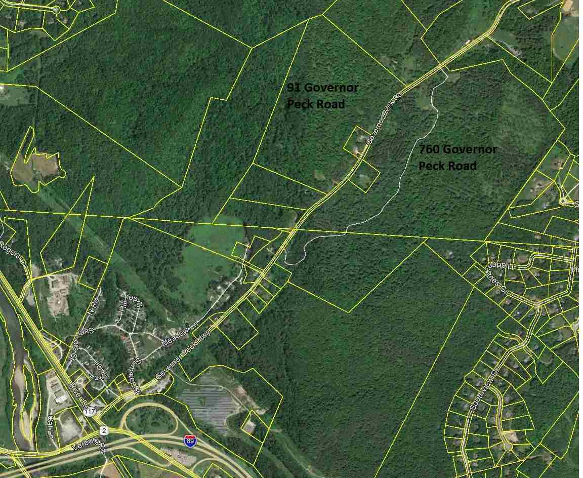 This 161 acre parcel is located less then a mile from exit 11 on I-89. 22 acres are located in Richmond and 139 acres are in Jericho. Preliminary percolation tests have been done showing a large portion of the site supports conventional septic design.  This site has an additional 74 acres to the west of Governor Peck Road being marketed as MLS number 147602.
