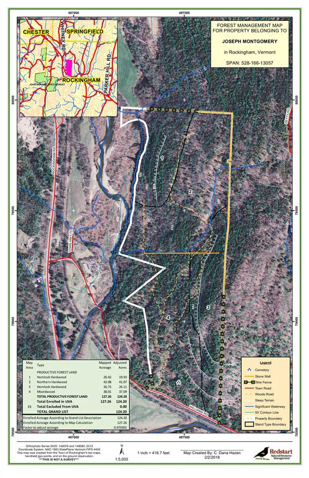 ROCKINGHAM VT LAND  for sale $$160,000 | 124.2 Acres  | Price Per Acre $0