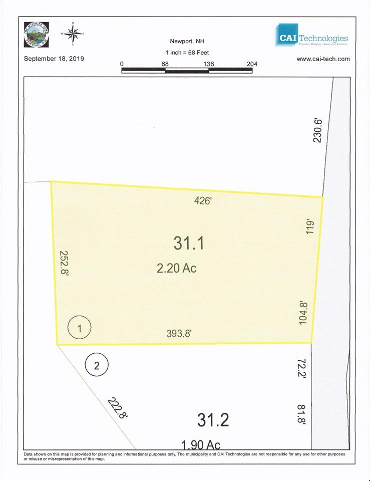 NEWPORT NHLAND  for sale $$33,000 | 2.2 Acres  | Price Per Acre $0