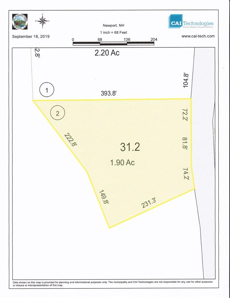 NEWPORT NHLAND  for sale $$32,000 | 1.9 Acres  | Price Per Acre $0
