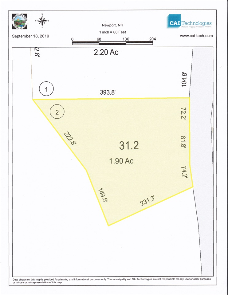 Newport NH 03773 Land for sale $List Price is $32,000