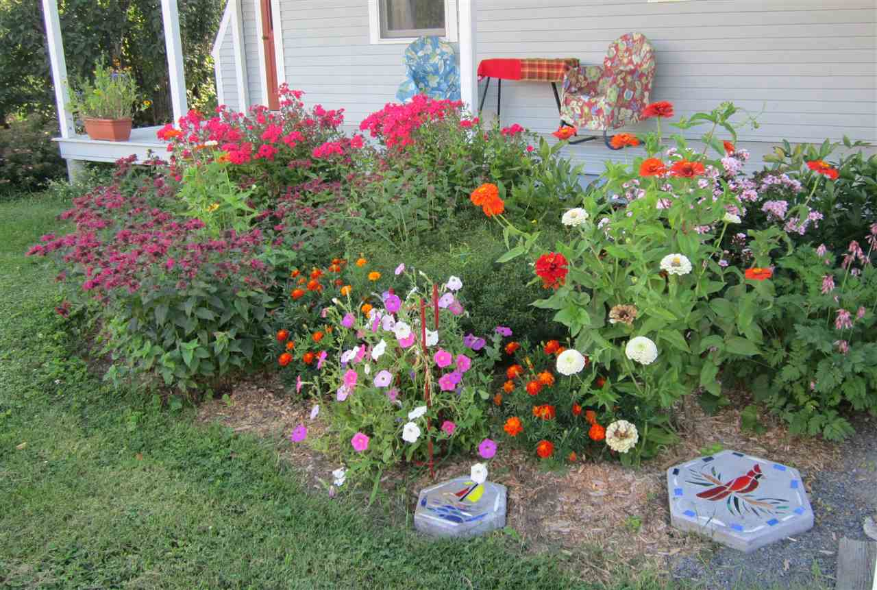 Flower Gardens at Back of House by Porch