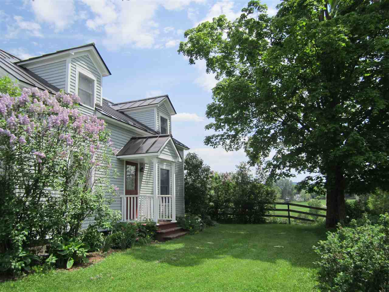 Front of House with Lilacs
