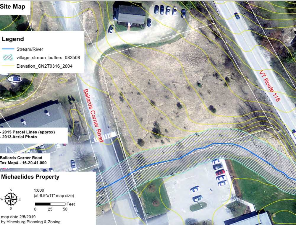 Great development potential exists on this 1.06 acre lot on Ballards Corner in Hinesburg with direct visibilitiy from busy Route 116!  With diverse permitted uses, plenty of opportunity abounds!  The lot is situated diagonally from Jiffy Mart while directly between Community Bank and a local Dentist office all just minutes from CVU.  Other businesses on Ballards corner include a local Pub and the Carpenter Carse Library.  Some permitted uses include a Day-Care, commercial space with residential units above, medical clinic and much more!  Don't miss this great opportunity to invest in the highly desirable community of Hinesburg!