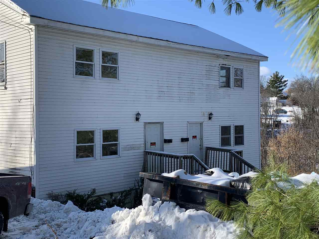 Attention investors!  Looking for a winter project?  Located just a couple minute walk from Main St in Downtown Vergennes, this conveniently located side by side duplex constructed in 2008, sits on a 1 acre lot that is loaded with opportunity and ready for your vision!  Both units are identical and have a very attractive floor plan that includes spacious living rooms, dining and kitchen areas including 3/4 baths on the first floor.  Upstairs in both units are decent sized bedrooms with ample closet space and large full baths with tile flooring and separate linen closets.  Each unit also has separate basement interior and exterior access with laundry hookups.  Both spaces could easily be converted into even more living space or simply keep as storage.  There is also the added convenience of a detached two car garage for use by both dwellings.  Whether you are an investor looking to rehab the property or want to fix it up to live in one half and rent out the other, the possibilities are seemingly endless not to mention the income producing potential this property has to offer!