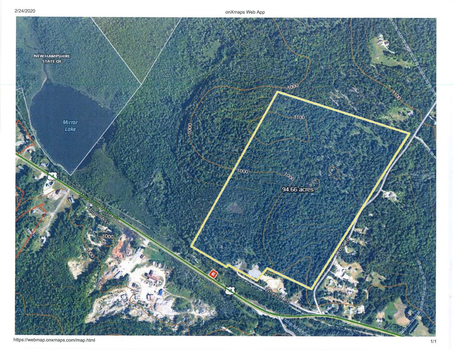 ORANGE NH LAND  for sale $$249,000 | 94.7 Acres  | Price Per Acre $0