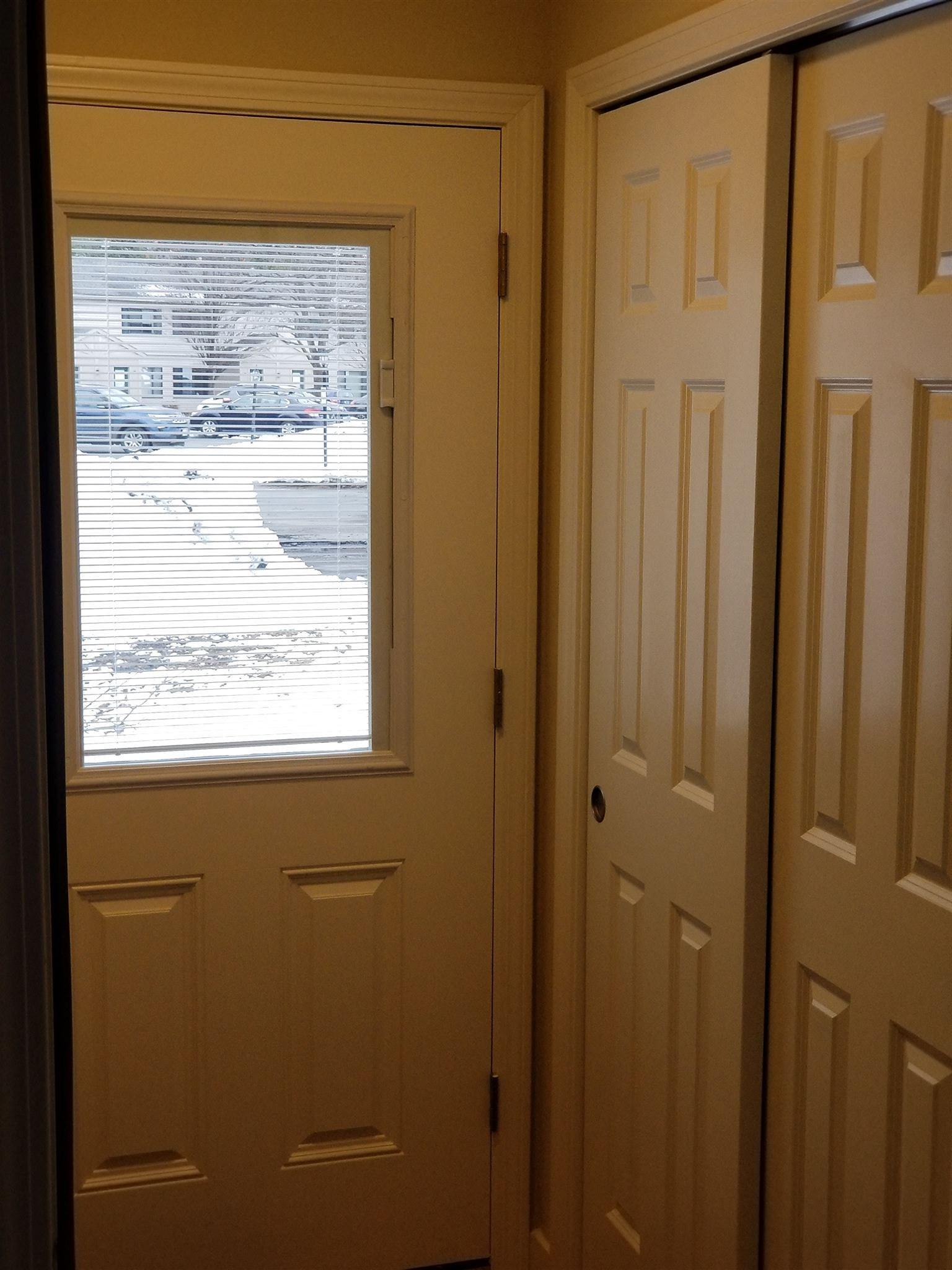 Front Door and Coat Closet