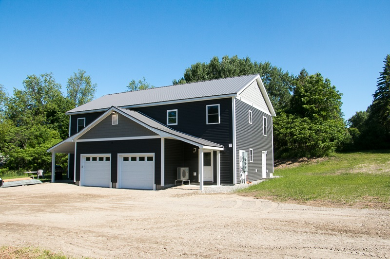 This newlyconstructed duplex in Starksboro is a must see! Built to Efficiency Vermont standards, this is a great opportunity for either an investor or owner occupy with rental income building equity for you. It features two 1250 sq ft units, each with an open kitchen and living room, half bath, and laundry on the first floor. The master bedroom with en-suite bath, bedroom, bonus room and additional full bathroom are on the second floor. Tile and laminate flooring throughout and a beautiful set of maple stairs accent the space. Both units have energy star stainless steel appliances, washer and dryer, and LED lighting. Heat and air conditioningare provided by high efficiency heat pumps. Tenants will love the insulated direct entry garage! Fully permitted and inspected by the State Fire Marshal. Solar opportunity on the property with a current CPG in place. Increase your return on investment in the future as this property could be split into townhomes and sold separately. Situated on a one acre lot, conveniently located off Route 116. Ten minutes to Hinesburg, 30 minutes to either Burlington or Middlebury.