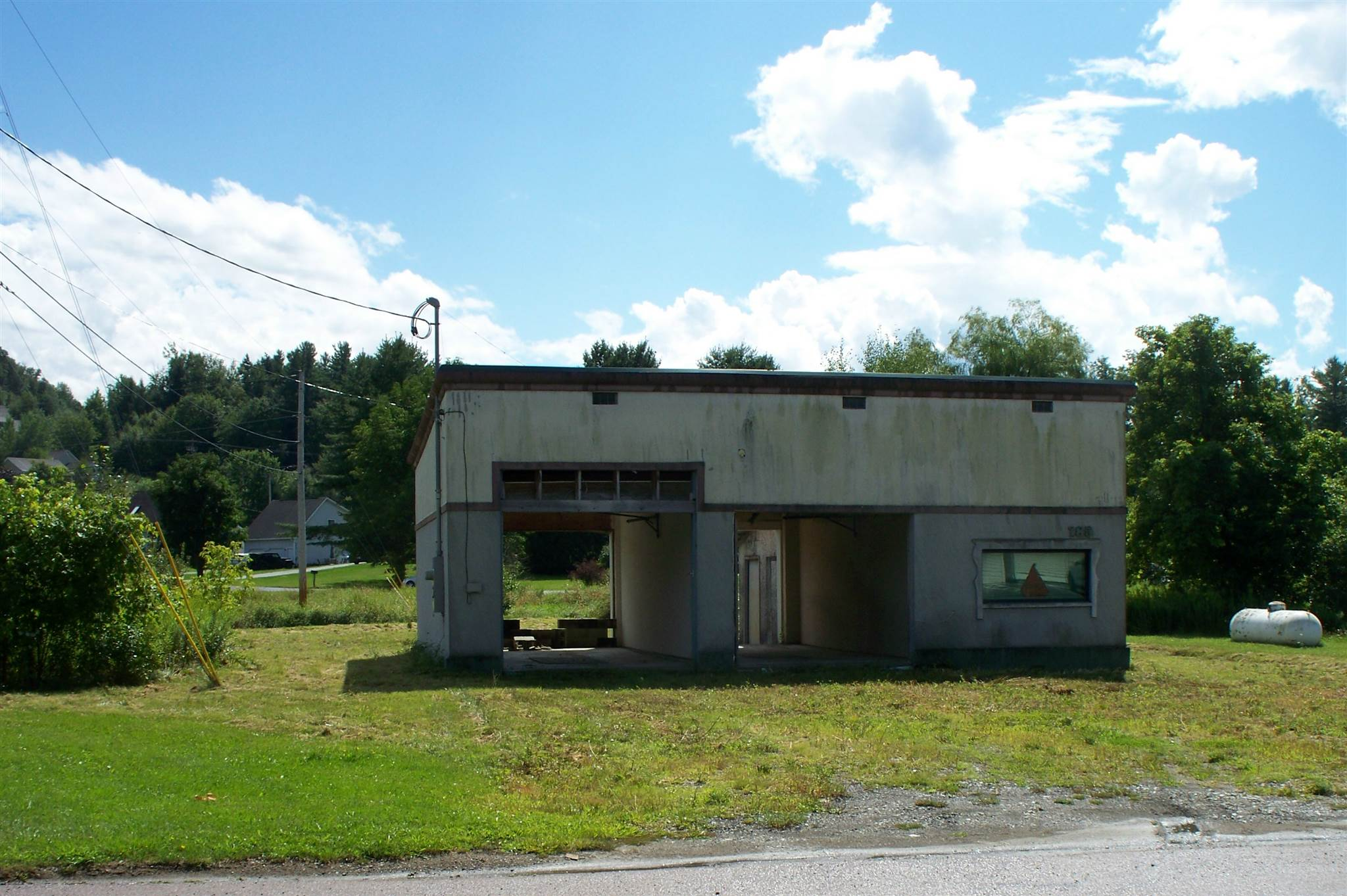 """Great location in Jeffersonville for a new business or to complete an existing car wash project.  Building and existing equipment being sold in """"as is"""" condition.  Located on Church Street enroute to Smuggler's Notch Resort.  This is a high traffic area near the intersection of VT Routes 15 and Church Street.  Property offers 0.63 +/- acre lot. Building offers 1200 square feet with municipal water and sewage hookups.  High speed internet and cell phone coverage available at this location.   Many opportunities for this prime location."""