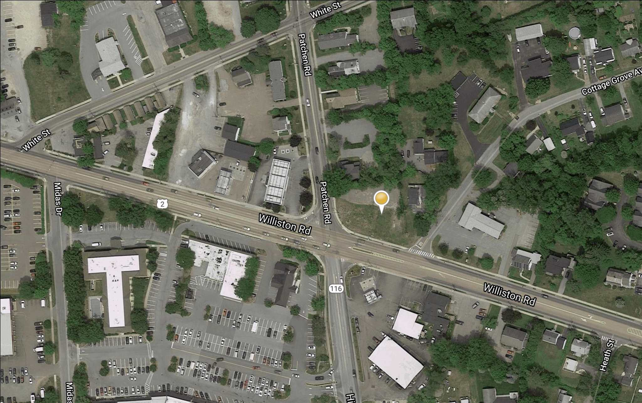 Development opportunity on Williston Road! Many possibilites at busy, high visibility location.