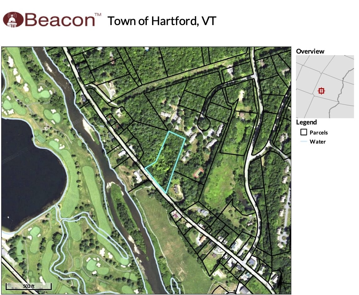 Village of Quechee in Town of Hartford VT  05059Land for sale $List Price is $125,000